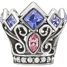 Chamilia Disney Princess Royal Crown Charm
