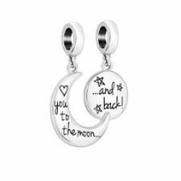 To the moon and back charm set