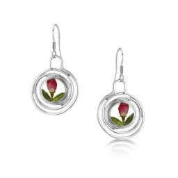 Rose Bud Spiral Earrings