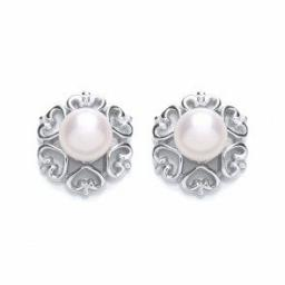 Silver Earrings FWP Fancy Studs