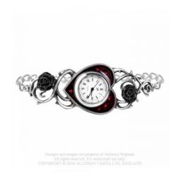 Bed Of Blood Roses Pewter Watch