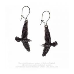 Black Raven Drop Earrings